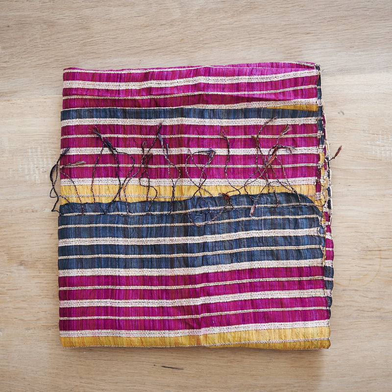 Lotus & Silk handwoven exclusive scarves from Myanmar- pink & gold - [product-type] - Inclusive Trade