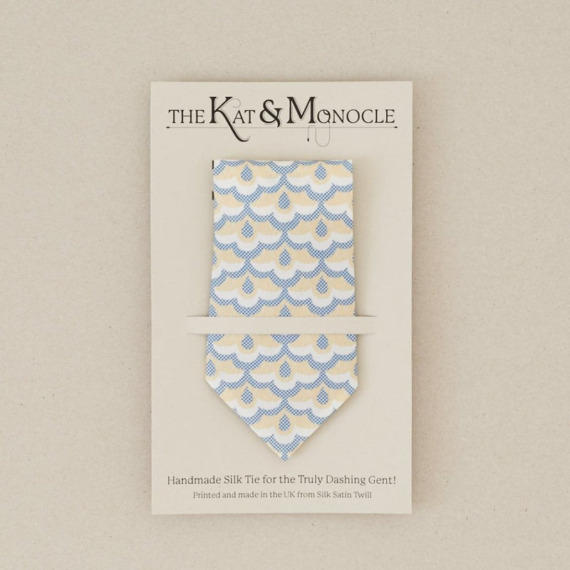 Mens Handmade Silk Tie: Lace Print - [product-type] - Inclusive Trade