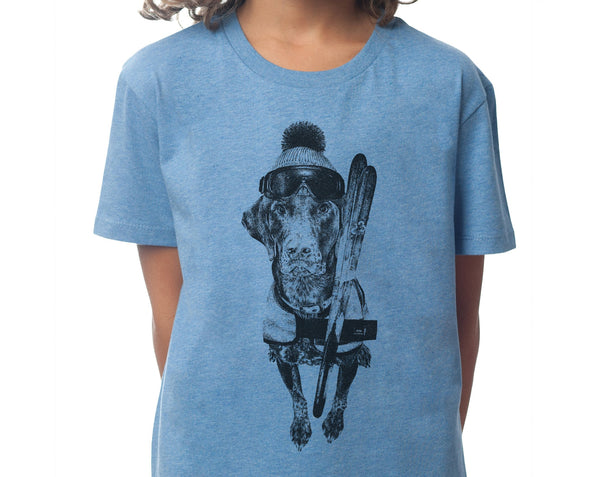 The Alpine Guru - Kids T-shirt - Mid Heather Blue - [product-type] - Inclusive Trade