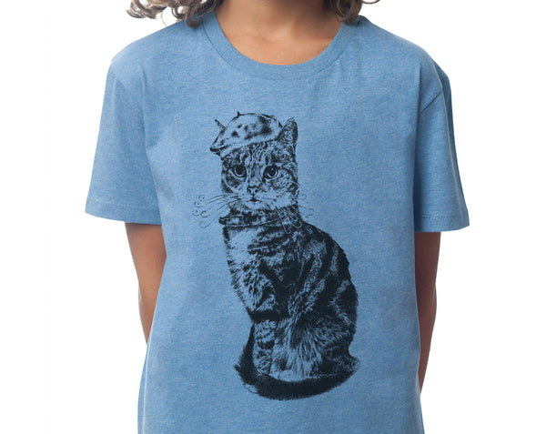 Monsieur Bartholomew - Kids T-shirt- Mid Heather Blue - [product-type] - Inclusive Trade