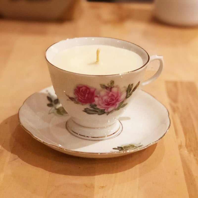 Vintage china - Scented soy candles - Rosie Lee - [product-type] - Inclusive Trade