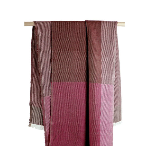 Handwoven throw - Himalayan Merino Wool - Jewel Pink - [product-type] - Inclusive Trade