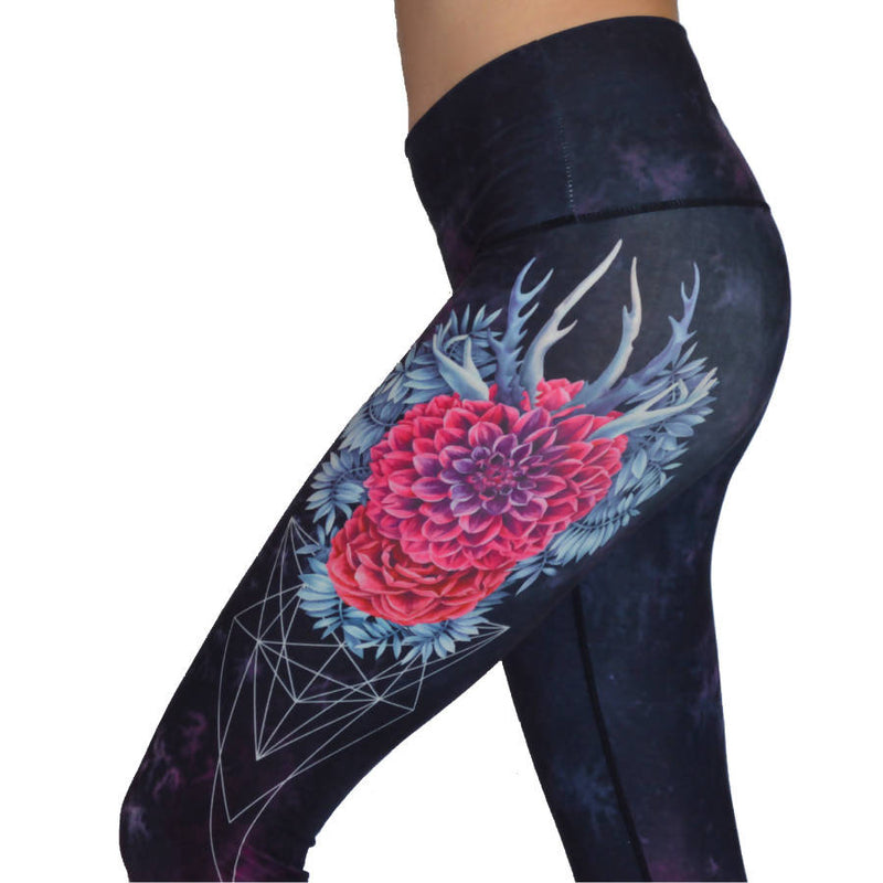 Flower Antlers Yoga Leggings - [product-type] - Inclusive Trade