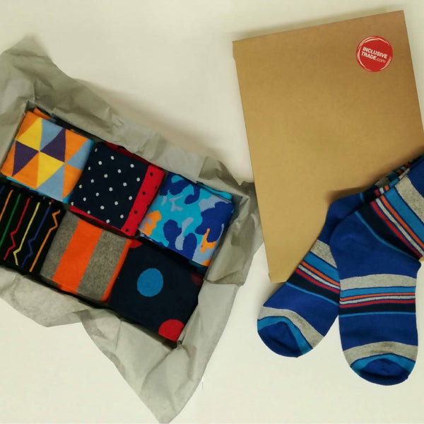 Our selection of impact socks in a box!