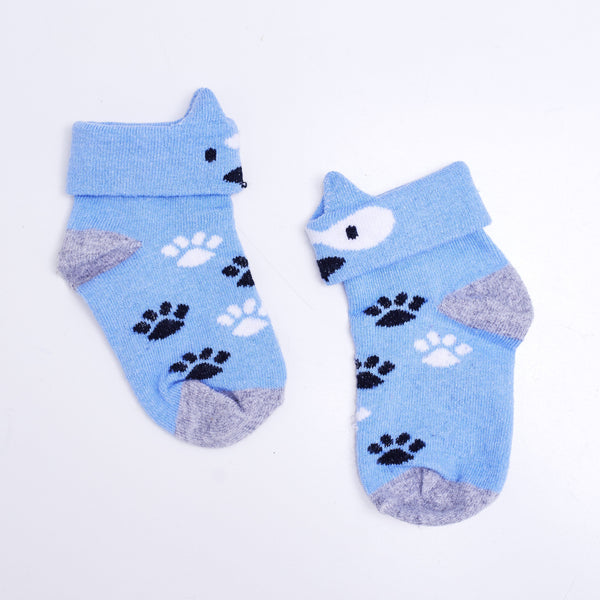 2 Pairs of 3D Animal Socks - Freda Fox & Peter Puppy - [product-type] - Inclusive Trade