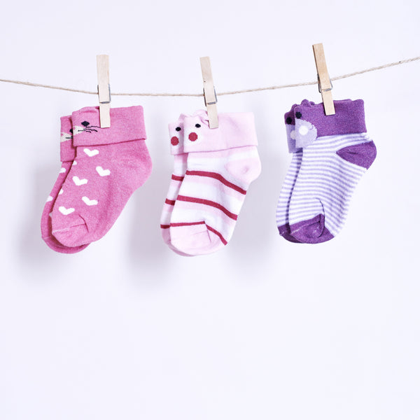 3 Pairs of 3D Animal Socks - Candy Piggy, Plum Piggy & Strawberry Kitty - [product-type] - Inclusive Trade