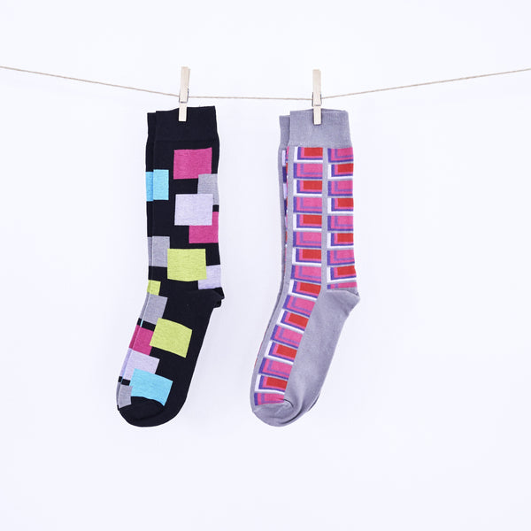 Dress Socks - Bright Days line - Pink & Grey - [product-type] - Inclusive Trade