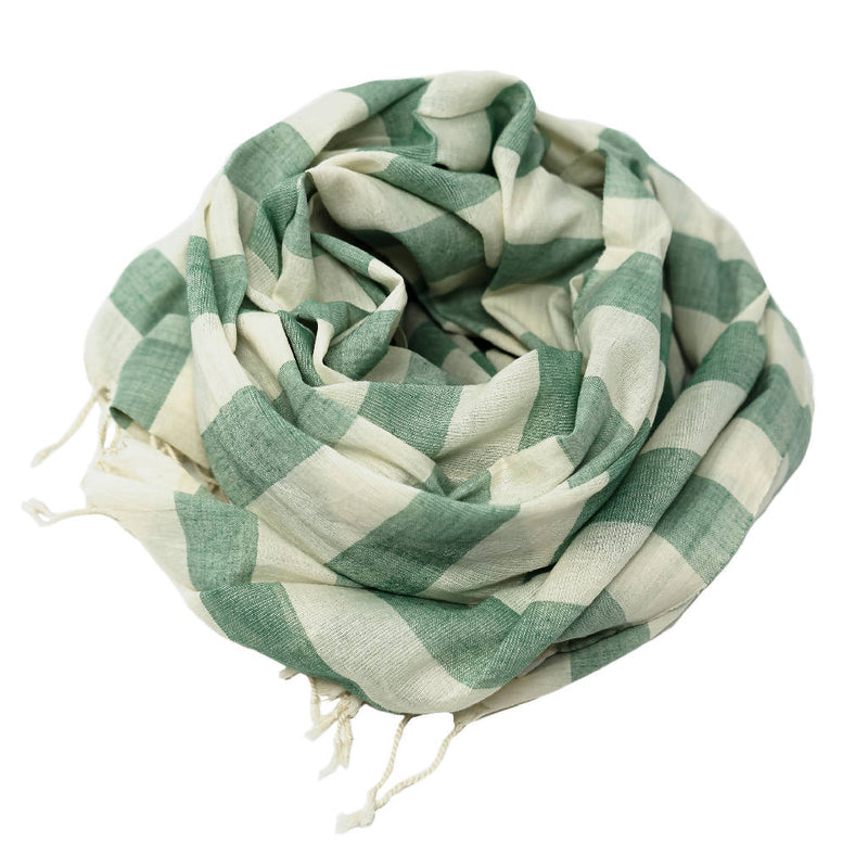 Green Bold Stripe Scarf - [product-type] - Inclusive Trade