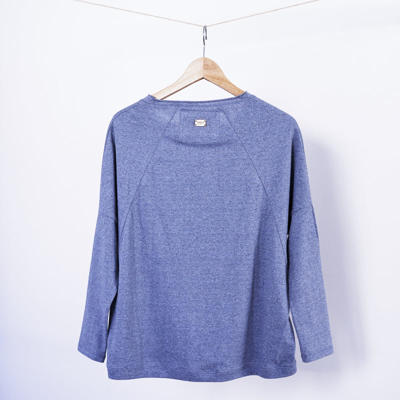 Blusa Ana - Recycled Denim Jersey Top - Orange Vintage - [product-type] - Inclusive Trade