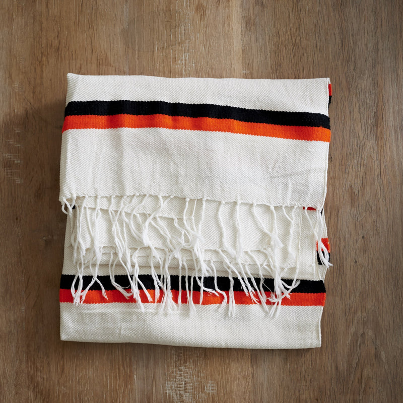 Denguza Shawl - Bright Orange and Black - [product-type] - Inclusive Trade