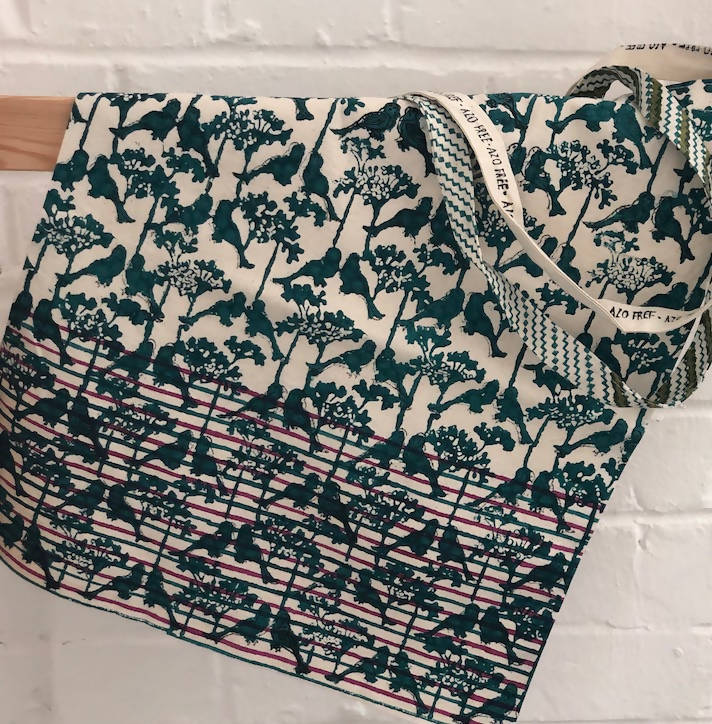 Hand block-printed cotton Tote Bag - [product-type] - Inclusive Trade