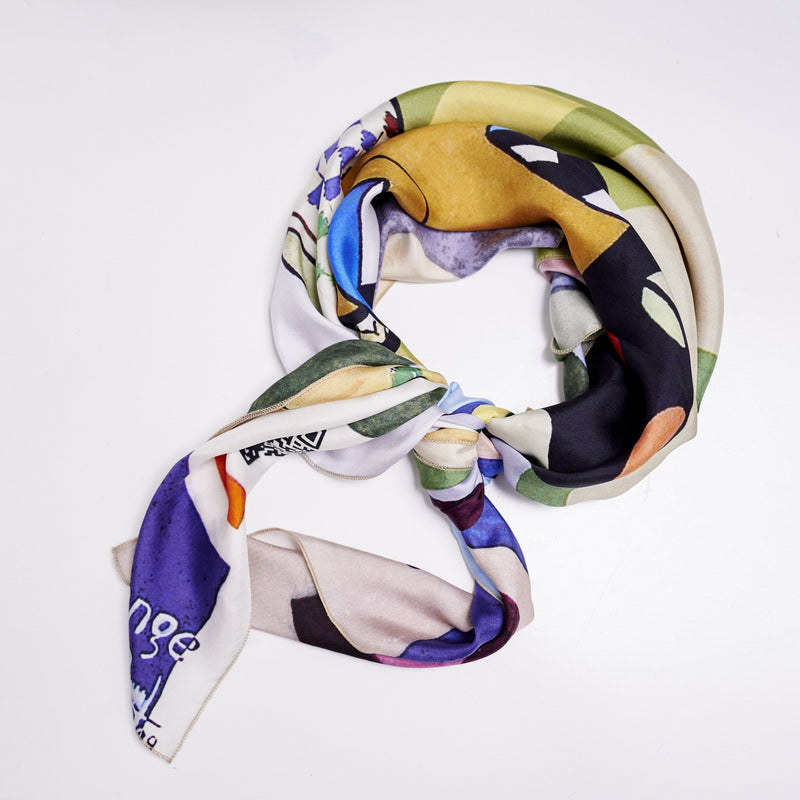 Silk Scarf - Waiting for the Train (Limited pieces) - [product-type] - Inclusive Trade