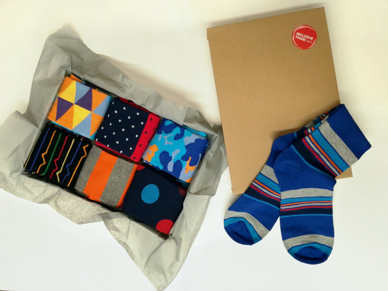 Dress Socks - Spot The Dot Red & Blue - [product-type] - Inclusive Trade