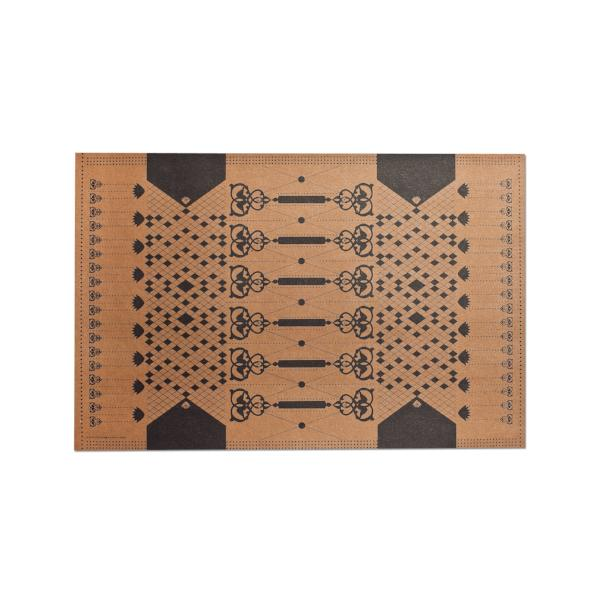 Table Mats, Laminated Kraft Paper, Black (Set of 6) - [product-type] - Inclusive Trade