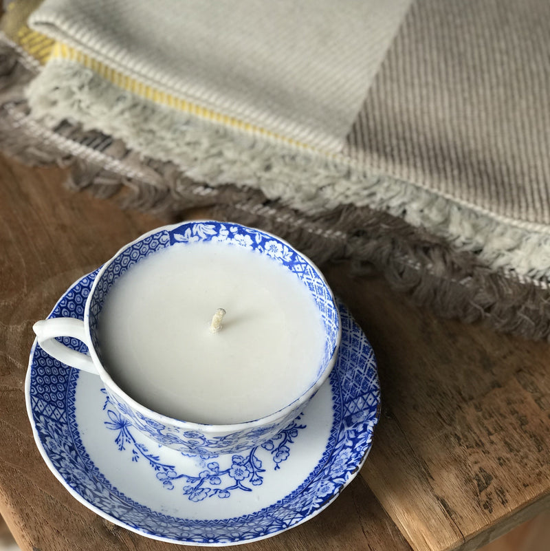Vintage Teacup Candle, organic soy wax - Monty - [product-type] - Inclusive Trade