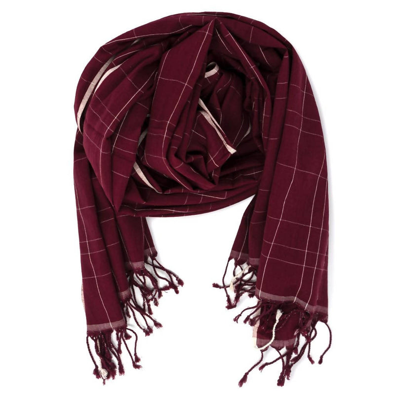 Brick Red Muslin Cotton Scarf - [product-type] - Inclusive Trade