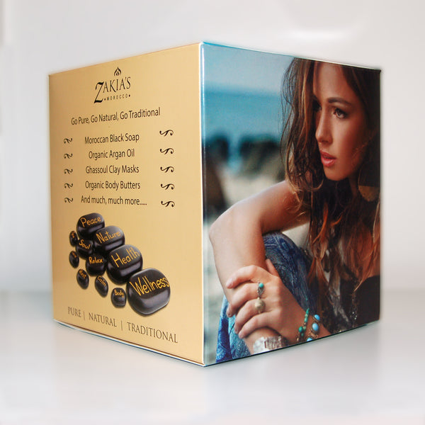 Moroccan Black Soap Kessa Gift Sets - Argan Oil