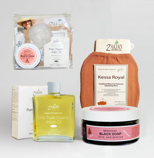 Argan Oil Bath & Body Gift Case - Rose