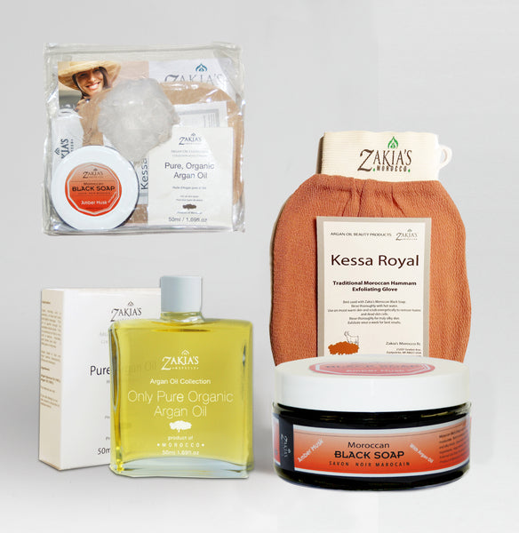 Argan Oil Bath & Body Gift Sets - Amber Musk