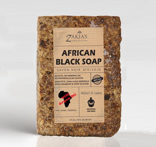 African Black Soap - Hand packed - 1 lb