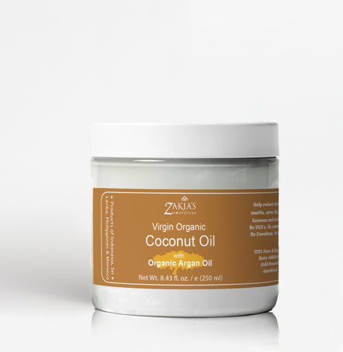 Organic Coconut Oil with Argan Oil - 100% pure, virgin organic grade