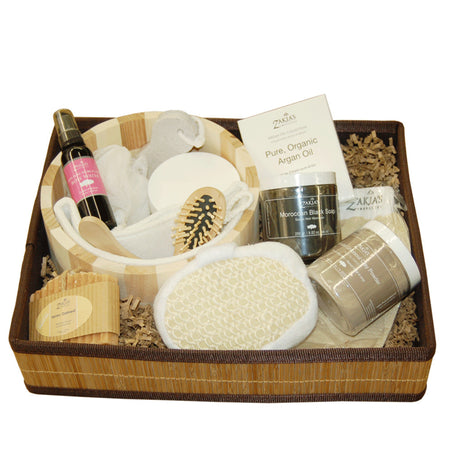 Moroccan Black Soap Kessa Gift Sets - Rose