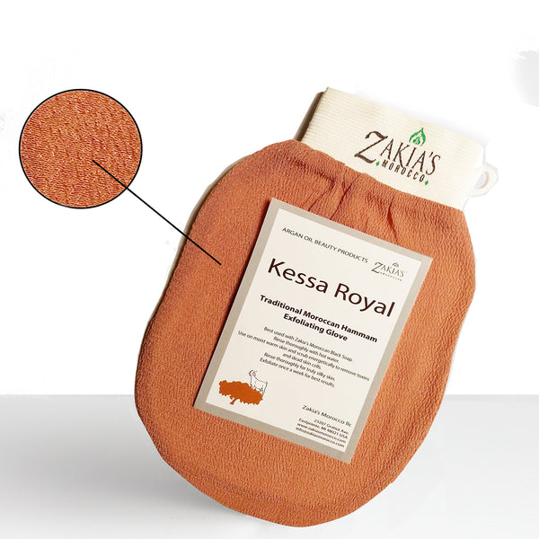 Moroccan Black Soap Kessa Exfoliating Gift Box - Rose