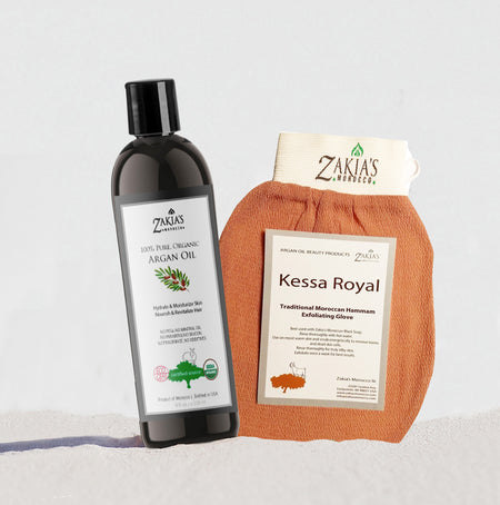 Moroccan Bath & Shower Set - Argan Oil