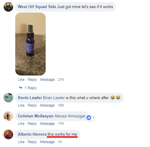 Fast Growth Hair Essence Spray Testimonial
