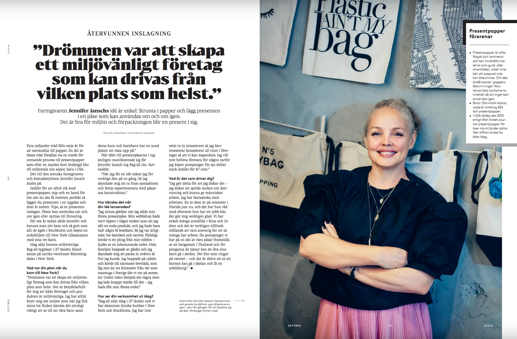Bag-all i Nordeas kundtidning Share