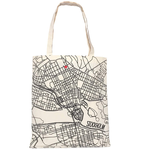 Stockholm Map Tote
