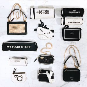 hair stuff case, Iconic Rattan Bag, Lotion & Potion Case