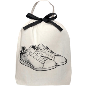 White Flat Sneakers Shoe Bag