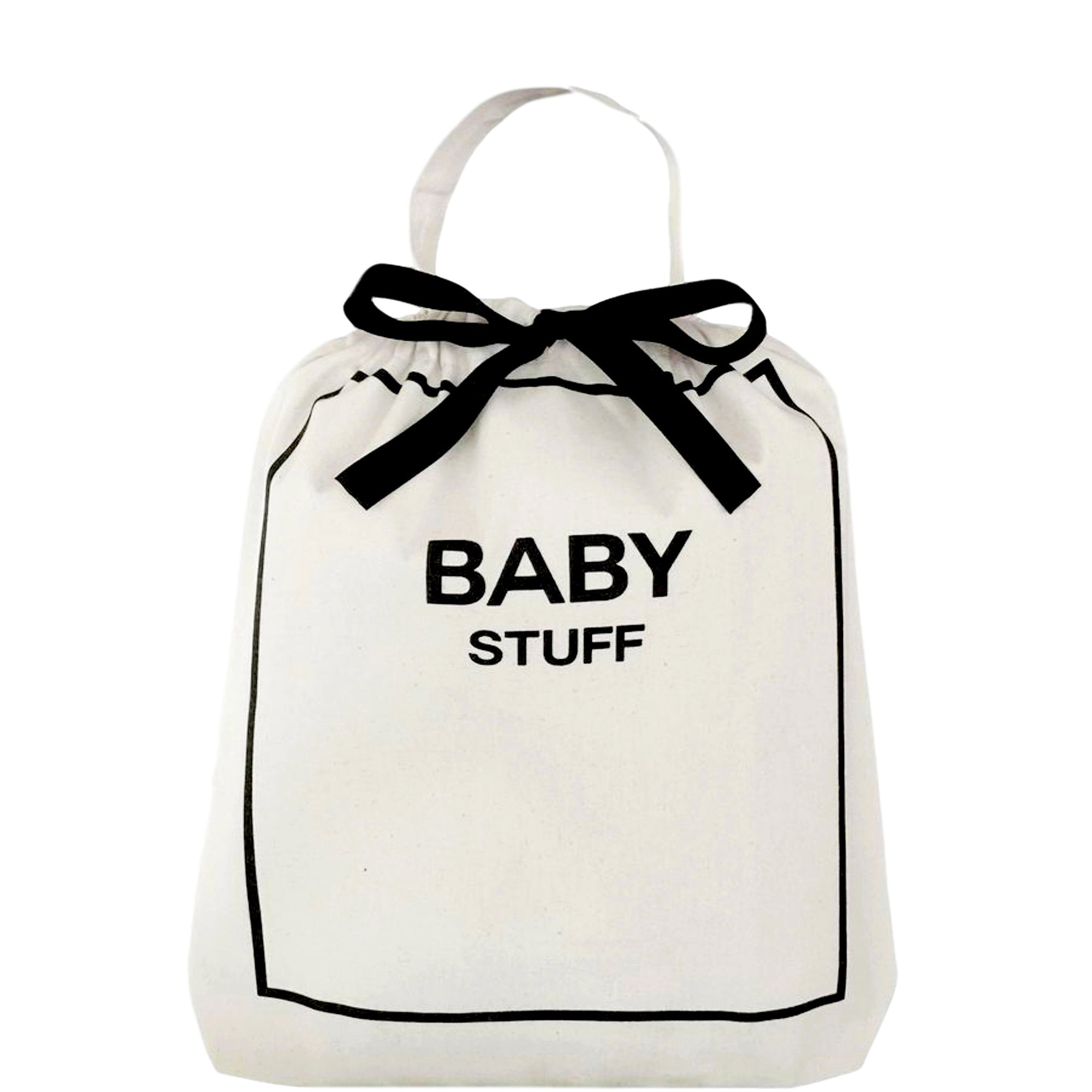 Baby organizing bag in a duffle bag.