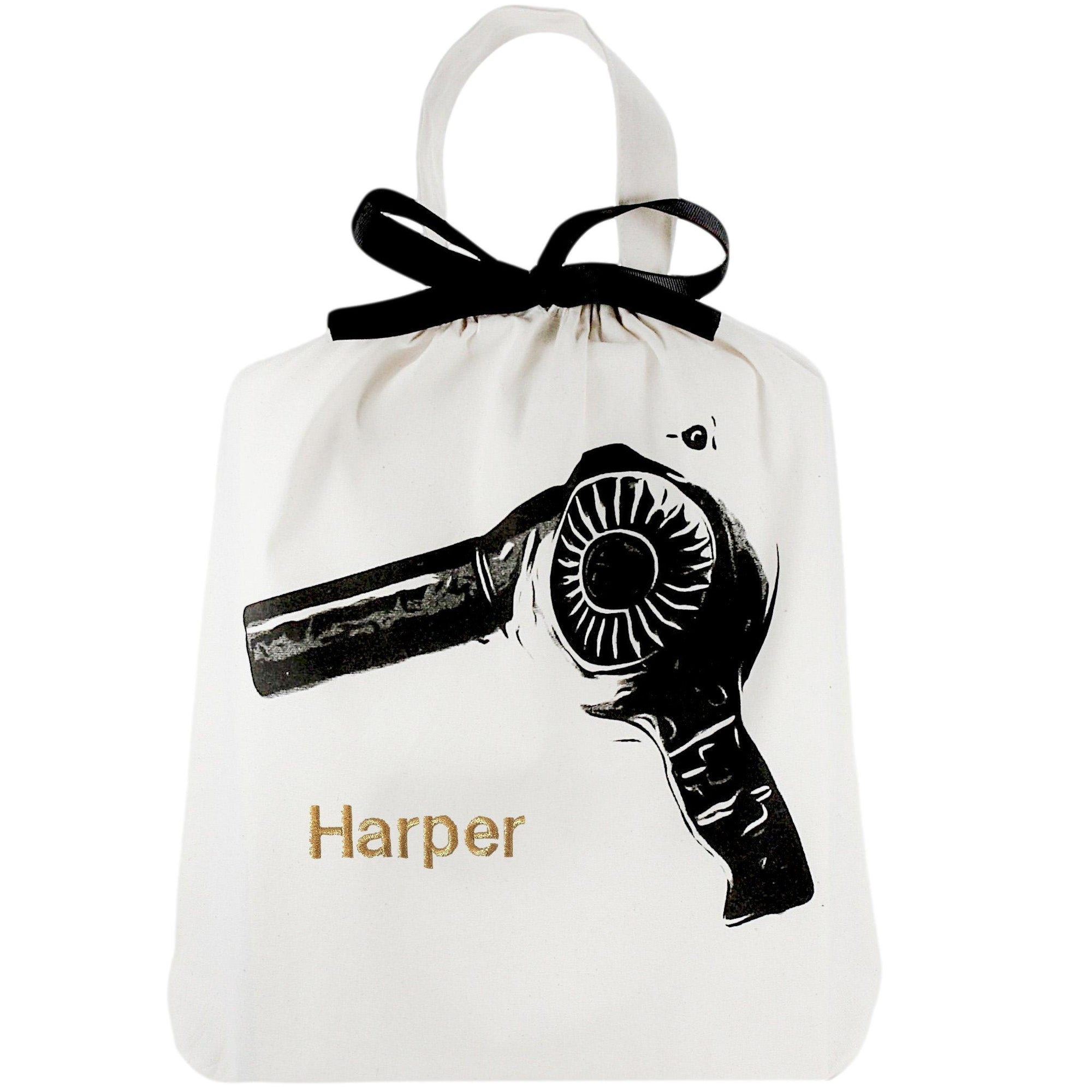 Travel organizing bag for hair dryer.