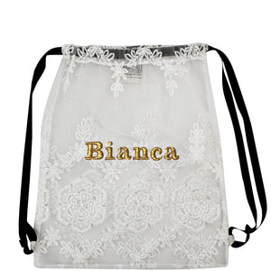 Lace Backpack White - Bag-all Europe