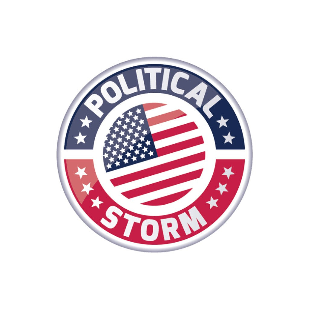 Political Storm Logo Sticker