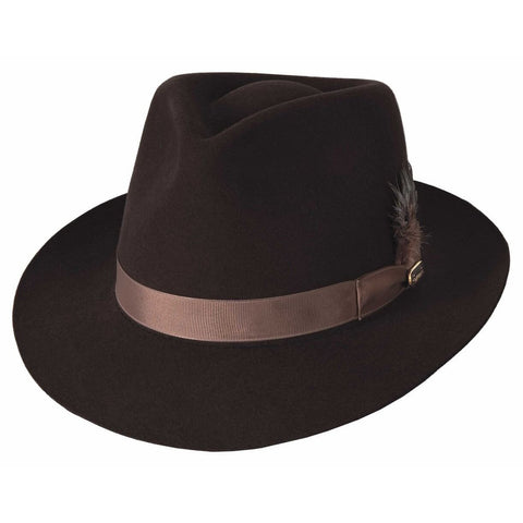 Bullhide Avalon Chocolate  Wool Fedora Hat - Hat-A-Tack