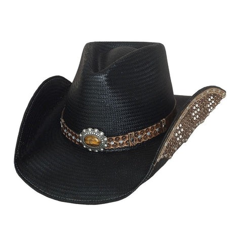 Bullhide Back To Back Black Straw Cowgirl Hat- Hat-A-Tack