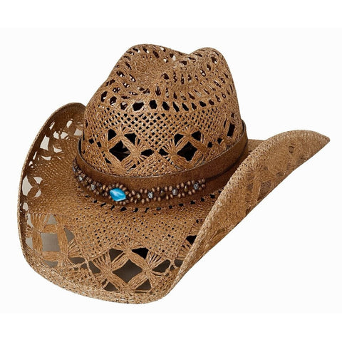 Bulhide Bean Me Up Brown Straw Cowgirl Hat- Hat-A-Tack