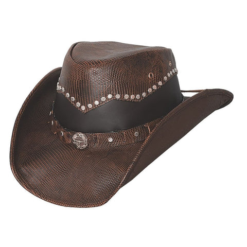 Bullhide Bonfire Chocolate Leather Outback Hat - Hat-A-Tack