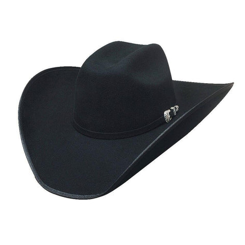 Bullhide Boot Hill 8X Black Fur Cowboy Hat - Hat - A - Tack