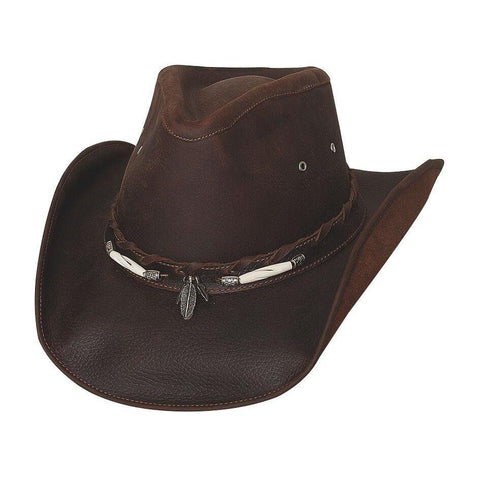 Bullhide Briscoe Chocolate Leather Outback Hat- Hat-A-Tack