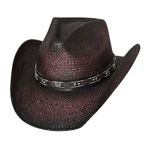 Bullhide Burnin' Down Wine Straw Hat - Hat-A-Tack
