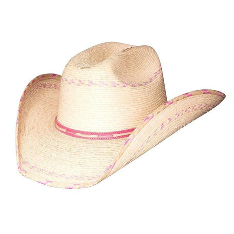 5c918a6079d25 Bullhide Candy Kisses Natural Pink Straw Childrens Hat- Hat-A-Tack