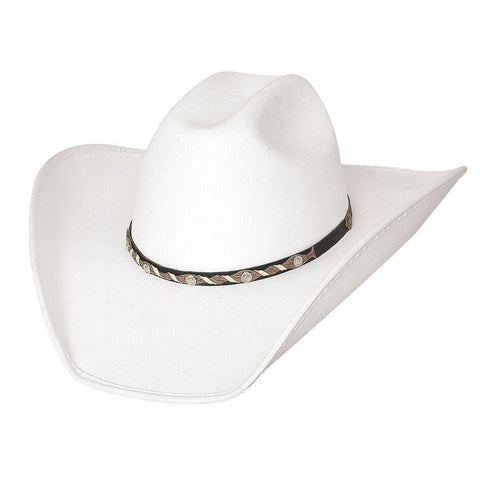 Bullhide Cattle Town White Straw Cowboy Hat - Hat-A-Tack
