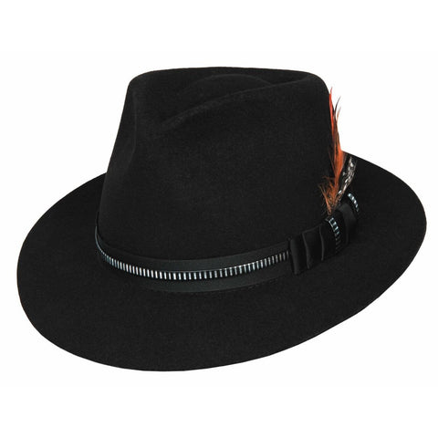 Bullhide Clarkston Black Wool Fedora - Hat-A-Tack