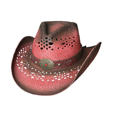 Bullhide Closer Cherry Straw Cowgirl Hat - Hat-A-Tack