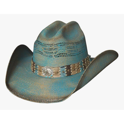 Bullhide Cool For The Summer Blue Straw Cowgirl Hat - Hat-A-Tack