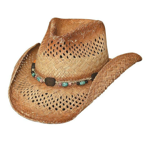 Bullhide Coral Reef Tea Stained Straw Cowgirl Hat - Hat-A-Tack